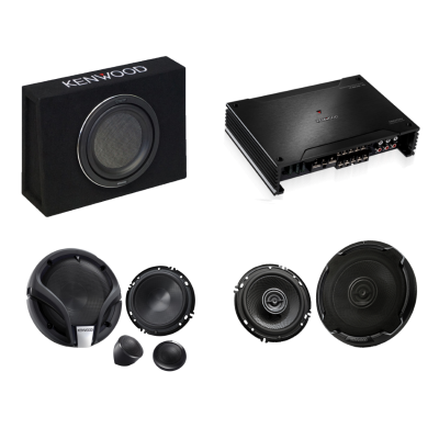 Kenwood 5ch Sub + Amp + Speakers pack