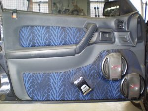 Holden Commodore Custom Door Speaker Installation - A custom installation of 2 Alpine Type-R Speakers into a Holden Statesman with a Factory felt finish.