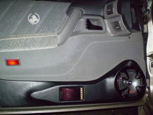 Holden Statesman Custom Door Speaker Installation - A custom installation of an Alpine Type-R Speaker set into a Holden Statesman with a black vinyl finish.